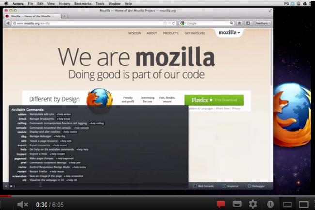 Firefox 16 ajoute des outils qui facilitent le développement. Crédit : Mozilla