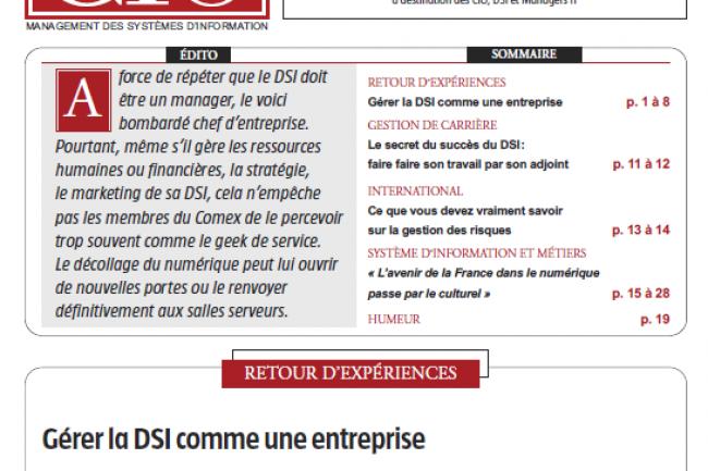 Cio Pdf 56 Gerer La Dsi Comme Une Entreprise Le Monde