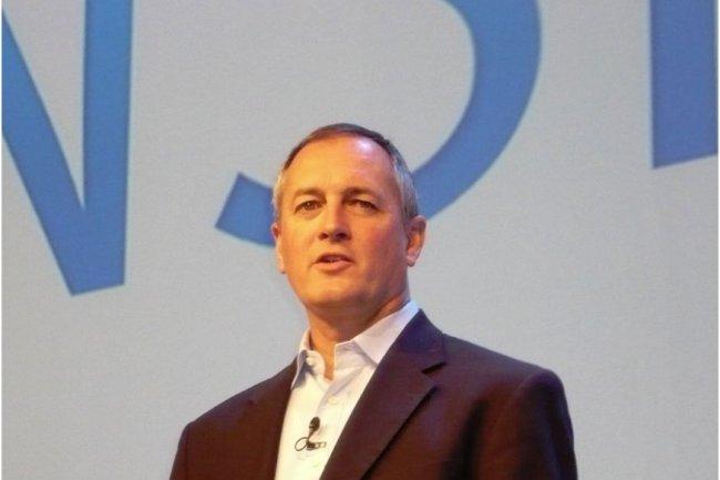 Rick Devenuti, président de l'entité Information Intelligence Group d'EMC, sur Momentum 2012, à Vienne (Autriche), le 6 novembre. (Crédit : M.G.)