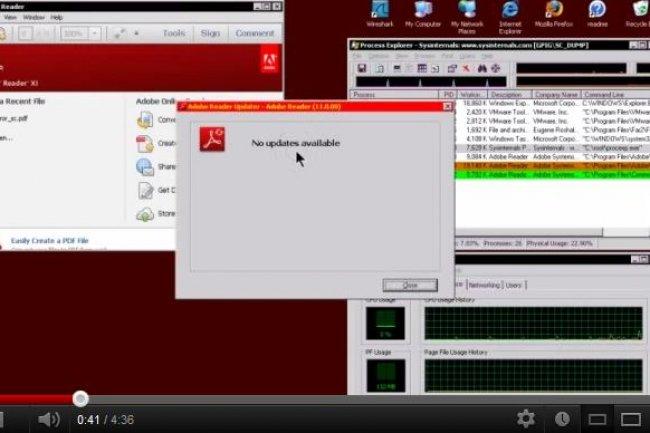 Dans une vidéo, les chercheurs de Group-IB montre comment fonctionne l'attaque zero-day dans Internet Explorer. Elle est malgré tout limitée car l'utilisateur doit fermer le navigateur après avoir chargé le fichier PDF pour qu'elle s'exécute.