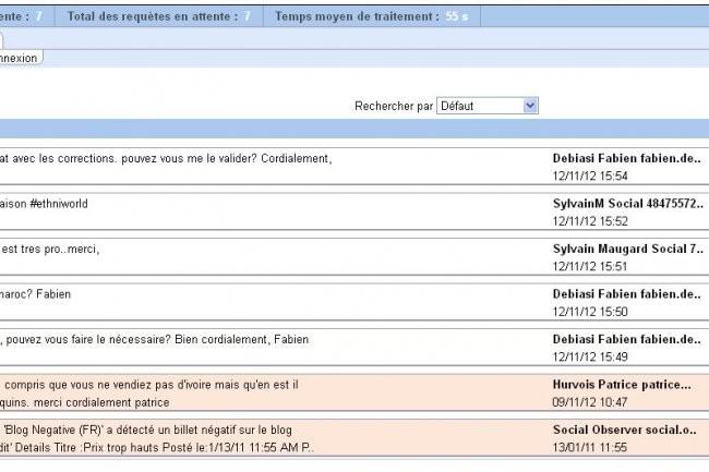 La plateforme multicanale et multilingue d'Eptica g�re les interactions entrantes avec les clients. (cliquer sur l'image pour l'agrandir)