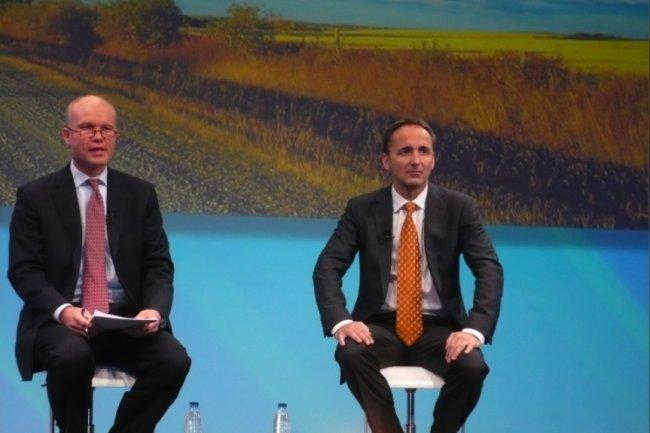 Jim Hagemann Snabe, co-CEO de SAP, lors d'un point presse sur Sapphire Now/TechEd 2012, à Madrid. (cliquer sur l'image pour l'agrandir / crédit : M.G.)