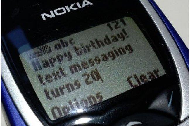 Le SMS a fêté ses vingt ans le 3 décembre 2012. (crédit : Martyn Williams / IDGNS San Francisco)