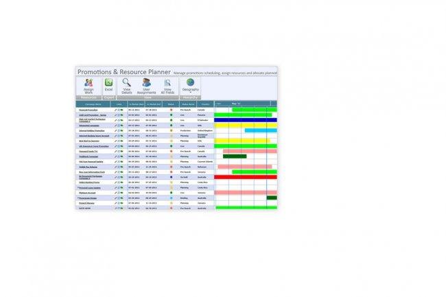 Infor vient de racheter l��diteur Orbis MRM (ci-dessus le module Marketing Calendar de l�application SaaS Orbis MRM, pour suivre les campagnes marketing et les �v�nements).
