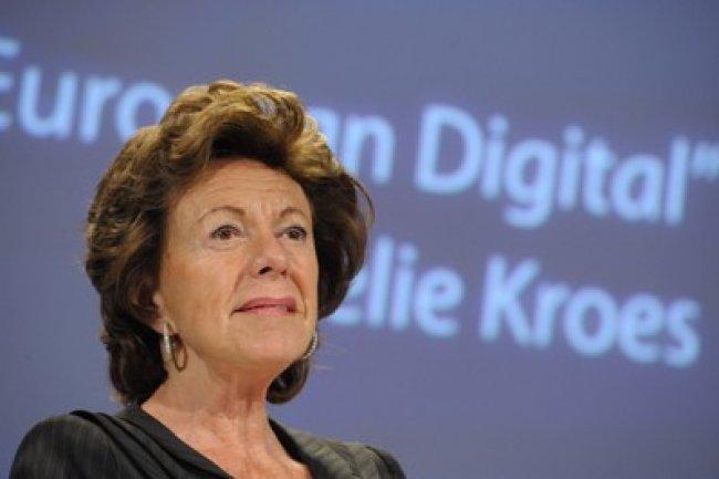 Neelie Kroes, Commissaire européen en charge de la société de l'information Crédit Photo:D.R