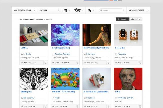 La plateforme Behance, rachetée par Adobe, permet aux professionnels de la création de montrer leurs travaux et d'en découvrir d'autres.