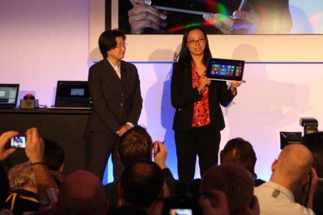 Lisa Su, vice-présidente senior chez AMD, lors de la présentation de la tablette animée par une puce Temash au CES 2013