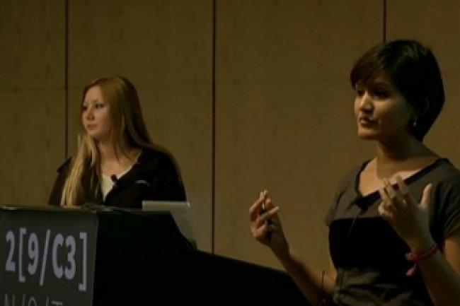 Aylin Caliskan Islam et Sadia Afroz lors de leur intervention Crédit Photo: D.R