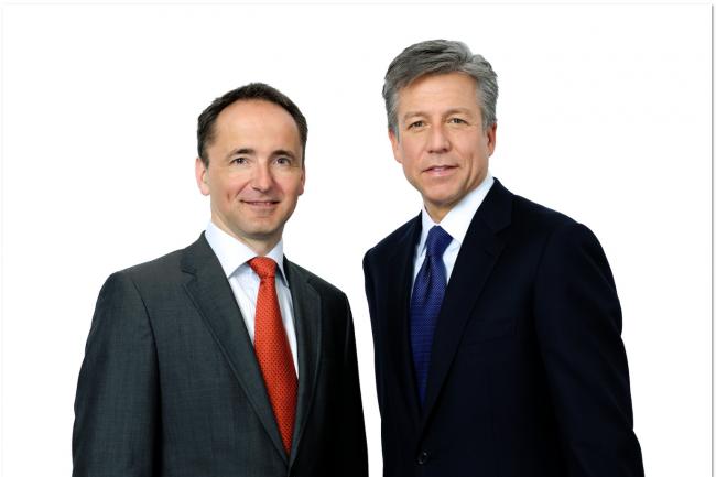 Jim Hagemann Snabe (� gauche) et Bill McDermott (� droite), co-CEO de SAP. (cr�dit : SAP)