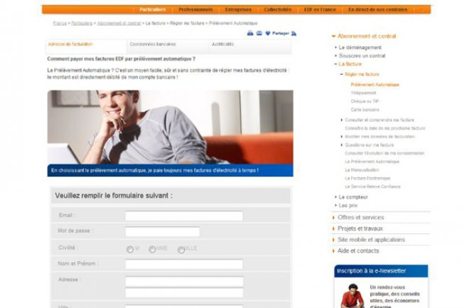 Exemple de sites frauduleux issus d'un phishing Crédit Photo: EDF