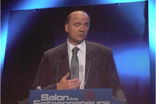 Pierre Moscovici, ministre de l'Economie et des Finances, sur le Salon des Entrepreneurs. (cr�dit : LMI)