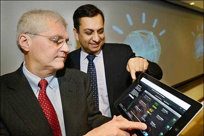 Manoj Saxena, general manager IBM présente l'application Watson pour les médecins