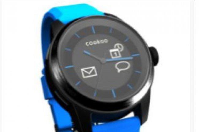 En illustration, un exemple de montre connectée, celle de Cookoo watch. Crédit: D.R.