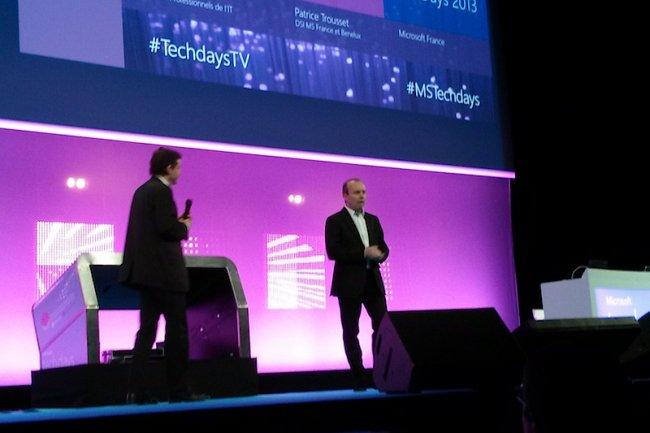 Patrice Trousset, DSI de Microsoft, sur la scène des tech-days.
