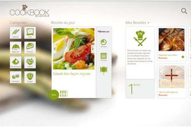 CookBook, l'une des premières applications développées en France pour Windows 8.