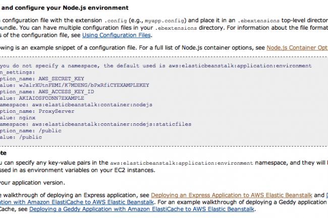 AWS simplifie le déploiement d'applications Node js - Le