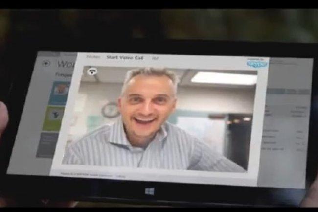 En d�cembre 2012, Microsoft a montr� l'int�gration de Skype � Dynamics CRM.