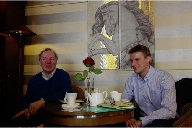 Monty Widenius, CEO de Monty Program, à gauche, et Patrik Sallner, CEO de SkySQL, font fusionner leurs sociétés. (crédit photo : D.R.)