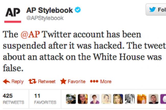 L'agence de presse AP a suspendu son fil Twitter après le piratage Crédit Photo: D.R