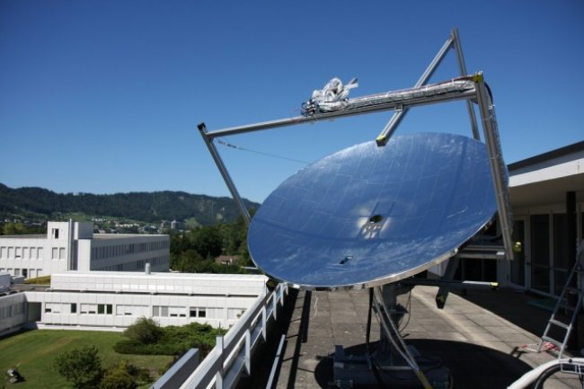 Exemple de prototype d'antenne solaire à l'Université de Zurich Crédit Photo: IBM
