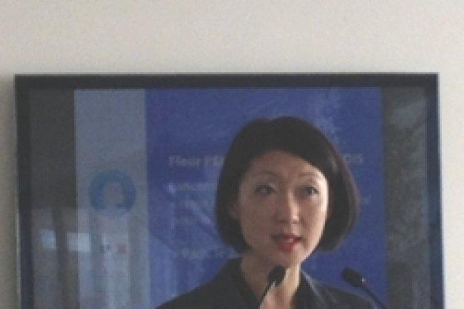Fleur Pellerin, ministre déléguée à l'économie numérique lance l' appel à projets de coeur de filière Crédit Photo: D.R