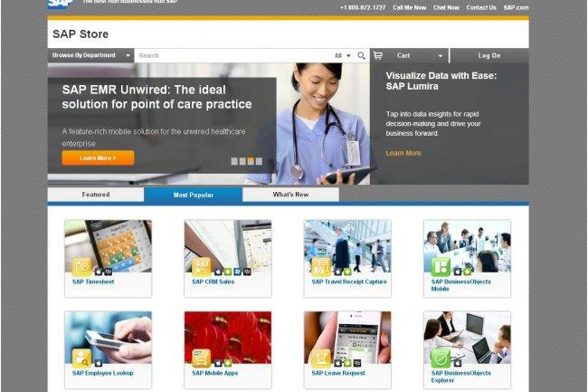 Sur SAP Store, on trouve des applications à 38 dollars par utilisateur et d'autres affichées à plusieurs milliers de dollars.