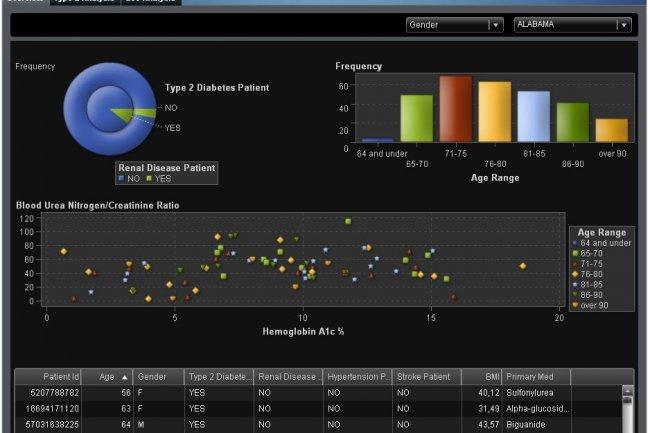 Avec la version 9.4 de la plateforme Business Analytics de SAS, une solution comme Visual Analytics (ci-dessus / cliquer sur l'image) se déploiera plus facilement en mode cloud.