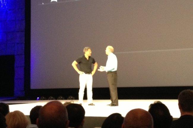 Les CEO de Nvidia et Citrix sur scène lors de la keynote de Synergy 2013