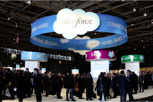 Salesforce.com a organisé l'étape parisienne de son Customer Company Tour 2013 à la Porte de Versailles le 23 mai. (Crédit : D.R.)