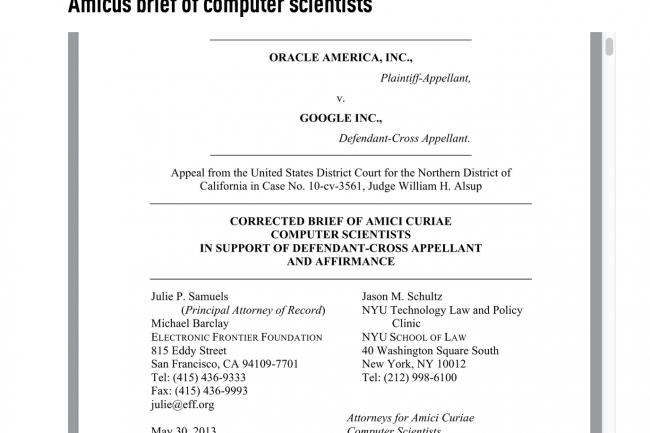 Des informaticiens s'opposent au copyright d'Oracle sur les API Java