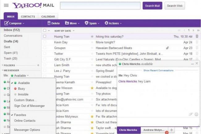 La derni�re version de Yahoo! Mail et de son messenger int�gr�