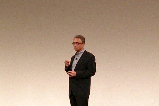 Georges Kadifa, patron de l'activité Software de HP, a ouvert la conférence de presse big data de ce Discover 2013.