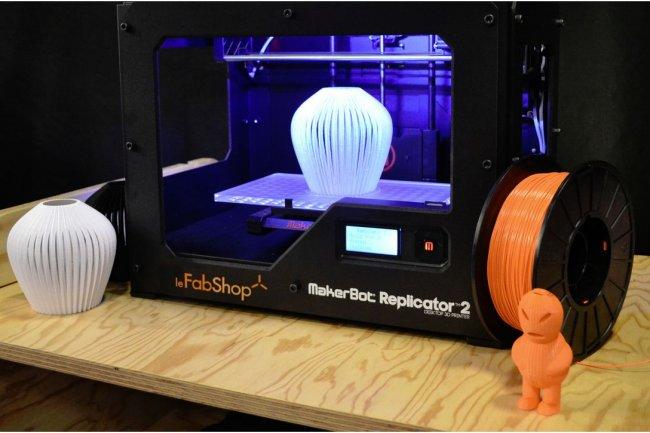 L'impression 3D (ci-dessus, le FabShop) s'expose sur Futur en Seine. (crédit : D.R.)