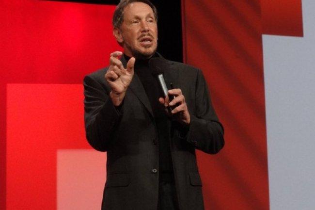 Larry Ellison lors du dernier salon OracleWorld � San Francisco. Cr�dit IDG NS