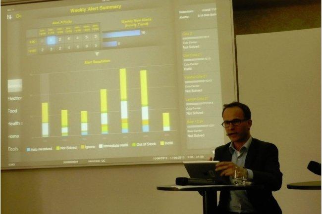 Sur Retail Forum Paris, SAP a notamment montr� des sc�narios exploitant l'acc�s en temps r�el aux donn�es pour pr�venir les ruptures de stock. (photo : LMI)