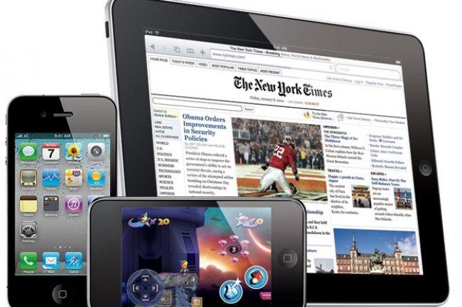 Le succ�s des tablettes et des smartphones devrait profiter aux OS Apple. Cr�dit: D.R
