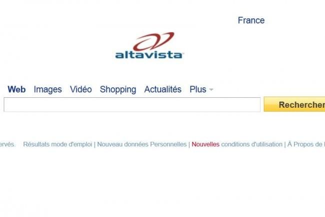 Le moteur de recherche Altavista cessera d'exister le 8 juillet prochain. Cr�dit: D.R