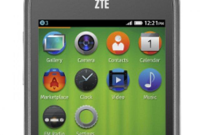 Le ZTE Open, premier smartphone sous Firefox OS commercialisé en Europe Crédit Photo: D.R