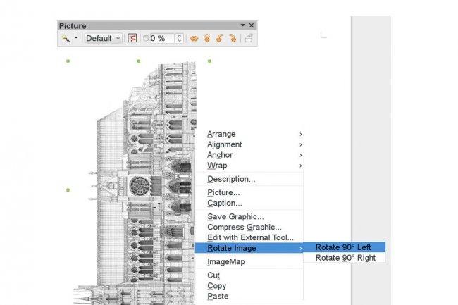 Avec LibreOffice 4.1, les images pourront pivoter de 90° dans Writer.