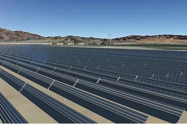 550 000 m2 de panneaux solaires capable de produire environ 43,5 millions de kilowattheures d'énergie propre