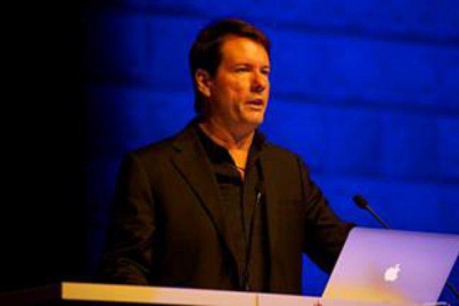Michael Saylor, CEO de MicroStrategy lors de son intervention inaugurale Cr�dit Photo: D.R
