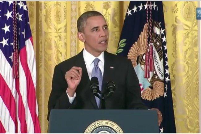Le président américain Barak Obama a expliqué lors d'une conférence de presse le 9 août 2013 son intention d'ouvrir un débat sur les programmes de surveillance de la NSA. (crédit : whitehouse.gov)