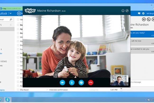Skype peut �tre utilis� � partir de la bo�te mail Outlook.com. Cr�dit: D.R