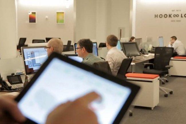 L'open space de l'équipe de design interne d'Infor, Hook & Loop. Crédit D.R.