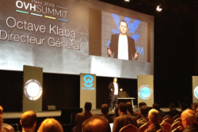 Octave Klaba, DG d'OVH a inauguré le premier OVH Summit. Crédit Photo: D.R