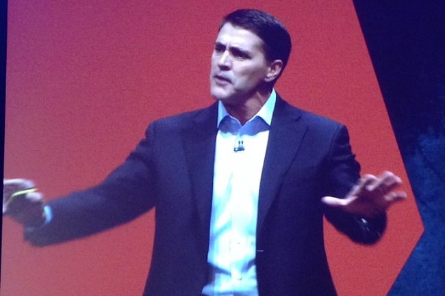 Carl Eschenbach, COO de VMware, sur scène à VMworld 2013