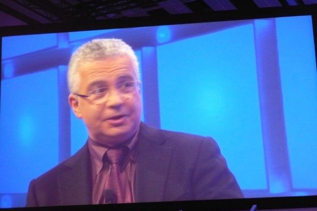 Kirill Tatarinov, vice-président exécutif, responsable de la division Business Solutions de Microsoft, hier sur l'événement Convergence EMEA. (crédit : LMI)