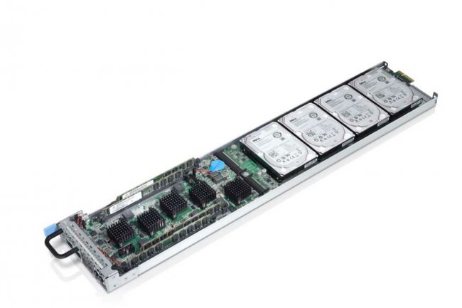 La carte serveur ARM - 32 bits aujourd'hui faute de puces 64 bits disponibles- d'un Dell PowerEdge C-Series.