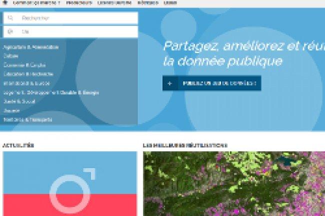 Le portail data.gouv.fr fait peau neuve avec au menu collaboration et enrichissement de la base de données. Crédit Photo: D.R