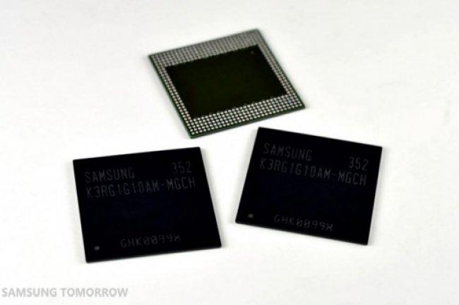 Avec sa puce DRAM 8 Gigabit LPDDR4, Samsung veux gonfler la mémoire des terminaux mobiles.